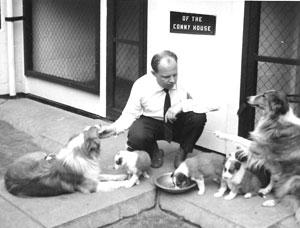 Ad Mommers met zijn honden